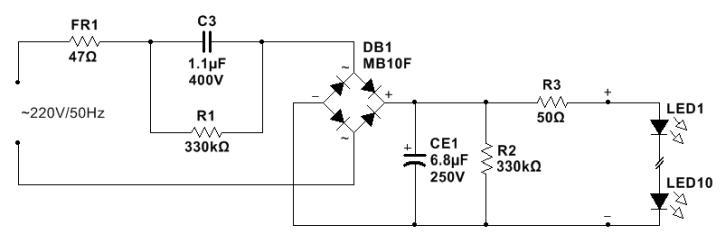 5.5W LED Light Bulb Schematic - TechLiminals.comTechLiminals